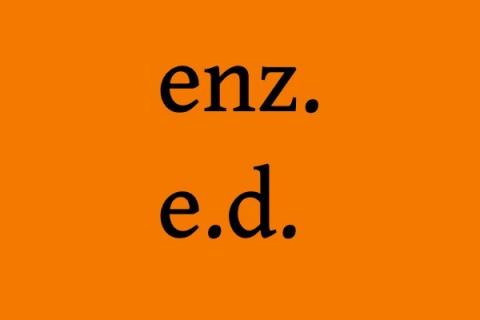 Przydatne skróty: enz. i e.d.